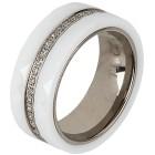 Ring Titan, Keramik  weiß Zirkonia Gr. 20 - 14883210303 - 1 - 140px