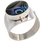 Ring 925 Sterling Silber Abalone Muschel Gr. 19 - 14891910201 - 1 - 140px