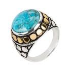 Ring 925 St.Silber bicolor Türkis stabilisiert