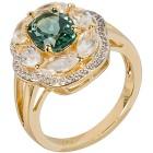 Ring 925 Sterling Silber vergoldet Quarz grün Gr. 20 - 14978810505 - 1 - 140px