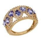 Ring 750 Gelbgold AAATansanit Zirkon Gr.18 - 14997510201 - 1 - 140px