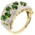 Ring 925 Sterling Silber vergoldet, Chromdiopsid Gr. 18 - 15000510301 - 1 - 140px
