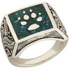 Ring 925 Sterling Silber Türkis stabilisiert Wolf Gr. 22 - 15006710505 - 1 - 140px