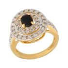 Ring 925 St. Silber vergoldet Saphir, Weißtopas   - 15068600000 - 1 - 140px