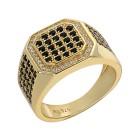 Ring 925 Sterling Silber vergoldet Zirkonia Gr.18 - 15104610401 - 1 - 140px