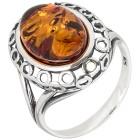 Ring 925 Sterling Silber, Bernstein Gr. 18 - 15111110301 - 1 - 140px