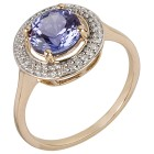 Ring 585 Gelbgold AAATansanit, Diamanten Gr. 18 - 15113210201 - 1 - 140px
