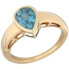 STAR Ring 750 Gelbgold AAAZirkon blau Gr. 18 - 15116110201 - 1 - 140px