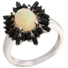 Ring 925 St. Silber Äthiopischer Opal, Spinell