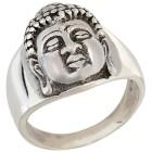 Ring 925 Sterling Silber, Buddha Kopf Gr. 20 - 15124310303 - 1 - 140px