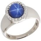 Ring 925 Synthetischer Stern Saphir Gr. 19 - 15125610302 - 1 - 140px