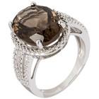 Ring 925 Sterling Silber Rauchquarz Gr. 19 - 15126210302 - 1 - 140px