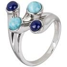 Ring 925 Sterling Silber Larimar, Lapislazuli   - 15127800000 - 1 - 140px