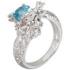 Ring 925 Sterling Silber Swiss Blue Topas beh. Gr. 18 - 15127910301 - 1 - 140px