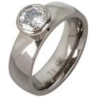 Solitär Ring Titan Zirkonia Gr. 17 - 15128910301 - 1 - 140px