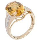 Ring 585 Gelbgold Goldberyll, Brillanten