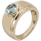 Ring 925 St. Silber vergoldet Swiss Blue Topas beh