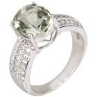 Ring 925 Sterling Silber Prasiolith, Zirkon Gr.19 - 15137310302 - 1 - 140px