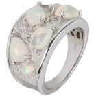 Ring 925 Sterling Silber Äthiopischer Opal, Zirkon Gr.18 - 15137710301 - 1 - 140px
