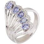Ring 925 Sterling Silber Tansanit, Zirkon Gr.20 - 15139310504 - 1 - 140px