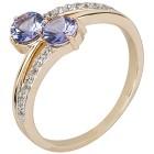 Ring 585 Gelbgold AAATansanit, Saphir Gr.20 - 15140010303 - 1 - 140px
