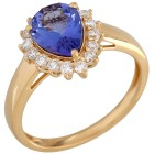 Ring 750GG, AAAA Tansanit; Diamanten Gr. 19 - 15149610403 - 1 - 140px