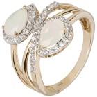 Ring 585 Gelbgold Äthiopischer Opal, Zirkon Gr. 19 - 15165010302 - 1 - 140px