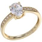 Ring 925 St. Silber rosévergoldet Zirkonia Gr. 19 - 15167510503 - 1 - 140px