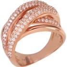 Ring 925 Silber rosévergoldet, Zirkonia Gr. 19 - 15169810402 - 1 - 140px