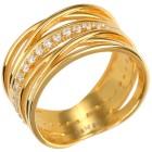 Ring 925 Silber vergoldet, Zirkonia Gr. 19 - 15170210402 - 1 - 140px