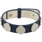 Armband Edelstahl, Leder blau - 15174100000 - 1 - 140px