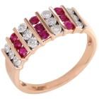 Ring 585 Rotgold Diamanten, Rubin