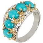 Ring 925 Sterling Silber Sleeping Beauty Türkis Gr.19 - 15195810302 - 1 - 140px