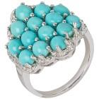 Ring 925 Sterling Silber Sleeping Beauty Türkis Gr.19 - 15196810202 - 1 - 140px