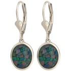 Ohrhänger 925 Sterling Silber Mosaikopal Triplette - 15225000000 - 1 - 140px