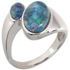 Ring 925 Sterling Silber Mosaikopal Triplette Gr.18 - 15225110401 - 1 - 140px