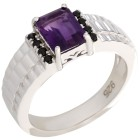 Ring 925 Sterling Silber Amethyst, Spinell Gr. 22 - 15226810505 - 1 - 140px