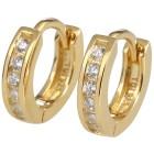 Creolen 925 Sterling Silber vergoldet Zirkonia - 15230200000 - 1 - 140px