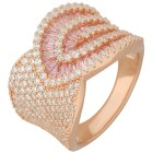 Ring 925 Sterling Silber rosévergoldet Zirkonia   - 15230900000 - 1 - 140px