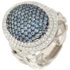 Ring 925 Sterling Silber Zirkonia blau Gr. 20 - 15231110403 - 1 - 140px