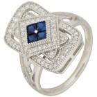 Ring 925 Sterling Silber Zirkonia blau Gr. 19 - 15231410302 - 1 - 140px