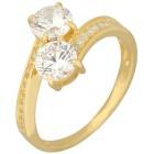 Ring 925 Sterling Silber vergoldet Zirkonia Gr. 18 - 15232710401 - 1 - 140px