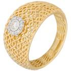 Ring 925 Sterling Silber vergoldet Diamanten