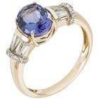 Ring 585 Gelbgold AAAATansanit, Zirkon Gr. 20 - 15253110303 - 1 - 140px