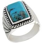 Ring 925 Sterling Silber Türkis stabilisiert Gr. 19 - 15255310402 - 1 - 140px