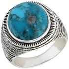 Ring 925 Sterling Silber Türkis stabilisiert Gr. 21 - 15255410404 - 1 - 140px