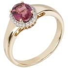 STAR Ring 585 Gelbgold AAARubellit Gr.20 - 15259210303 - 1 - 140px