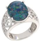 Ring 925 Sterling Silber Mosaikopal Triplette Gr.18 - 15267710401 - 1 - 140px