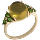 Ring 925 St.Silber vergoldet Bernstein grün Mexiko Gr.17 - 15272410401 - 1 - 140px