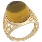 Ring 925 St.Silber vergoldet Bernstein grün Mexiko Gr.21 - 15272910404 - 1 - 140px
